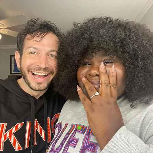 Gabourey Sidibe with boyfriend Brandon Frankel