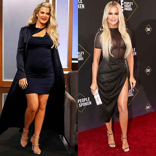 Khloe Kardashian before and after