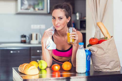 lady eating foods rich in protein