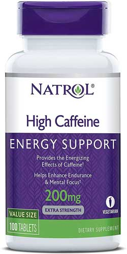Natrol high caffeine energy support